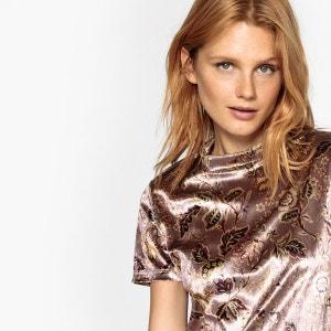 Tee-shirt imprimé floral en velours La Redoute Collections