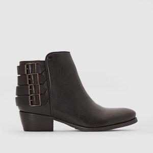 Boots pelle Ely PASTELLE