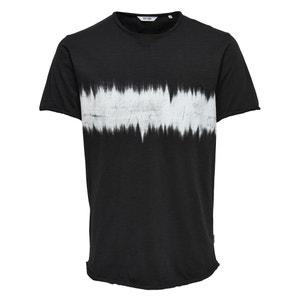 T-shirt z okrągłym dekoltem, wzór z przodu, Onssamuel ONLY & SONS