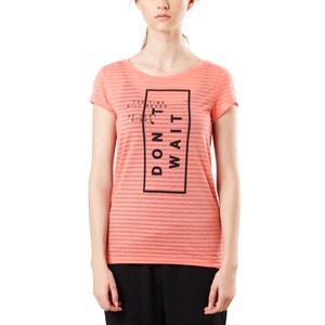 T-shirt rayé, imprimé, col rond S OLIVER