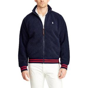 Sweater met rits en opstaande kraag