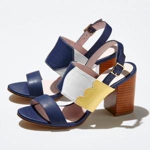 Sandálias com tacão alto, estampado tricolor MADEMOISELLE R