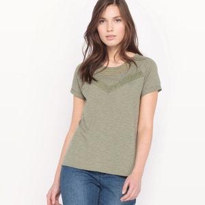 Tee-shirt brodé, manches courtes LE TEMPS DES CERISES
