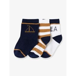 Lot de 3 paires de chaussettes fantaisie bébé VERTBAUDET