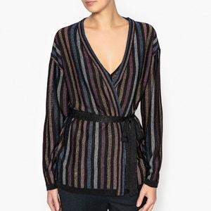Doudou Iridescent Striped Cardigan TOUPY