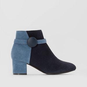 Boots in leer met knoop MADEMOISELLE R