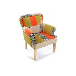 fauteuil tissu patchwork la redoute. Black Bedroom Furniture Sets. Home Design Ideas