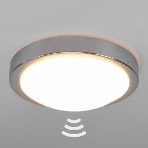 Plafonnier salle de bains LED Aras, détecteur, alu LAMPENWELT
