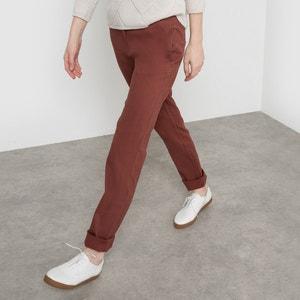 Pantaloni chino cotone stretch R essentiel