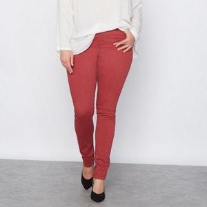 Spodnie z 5 kieszeniami z kolorowej serży o skośnym splocie CASTALUNA