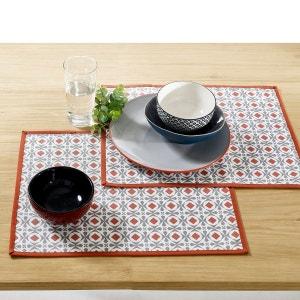 Set de table enduit HELIA polycoton ant (lot de 2) La Redoute Interieurs