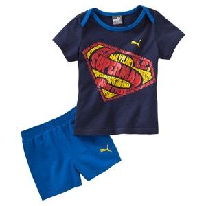 Completo T-shirt + shorts fantasia Superman 6 mesi - 3 anni PUMA