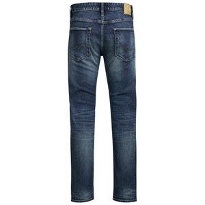 Jeans regular, direitos, efeito desbotado JACK & JONES