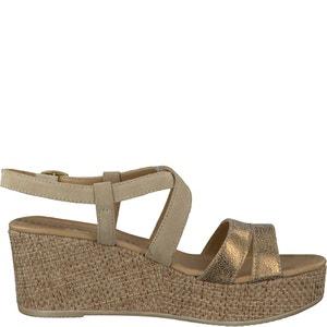 Sandales à talon compensé Kira TAMARIS