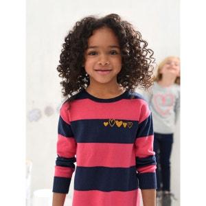 Robe-tunique fille en tricot VERTBAUDET