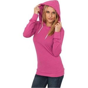 Jersey à capuche Long URBAN CLASSICS Ladies Rose Fuchsia Slim Fit URBAN CLASSICS