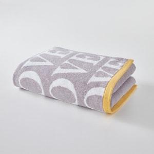 Duży bawełniany ręcznik kąpielowy LOVE. La Redoute Interieurs