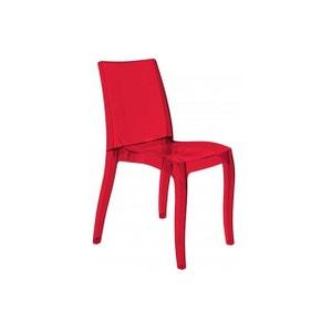 Chaise translucide la redoute - Chaise rouge transparente ...