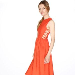 Ärmelloses Kleid, A-Linie, Schnürung an der Seite PEPALOVES