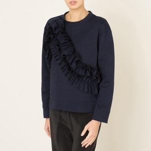 Sweatshirt mit Volants CEDRIC CHARLIER