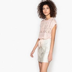 Bluse LOISES bestickt, ohne Ärmel, runder Ausschnitt SUNCOO