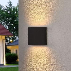 Applique d'extérieur LED carrée Trixy, graphite LAMPENWELT