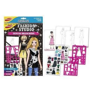 Carnet de coloriage Fashion Studio : Tenues branchées JOUSTRA