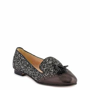 Roni/Glit Leather Loafers COSMOPARIS