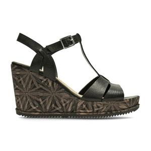 Sandalias de piel con tacón de cuña Adesha River CLARKS
