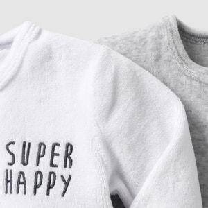 Pyjama naissance velours 0 mois-3 ans (lot de 2) R essentiel