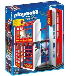 Playmobil City Action - Caserne de pompiers avec alarme - PLA5361 PLAYMOBIL
