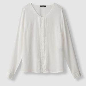 Blusa de manga larga con pliegues, CELIANE SCHOOL RAG
