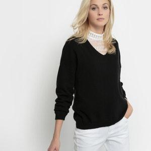 Пуловер с V-образным вырезом из кашемира La Redoute Collections