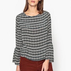 Bedrukte blouse in zijde TAMA DIEGA