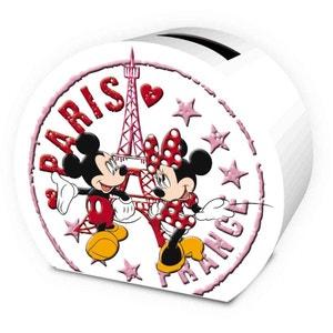 Tirelire arrondie Minnie et Mickey ALPAC