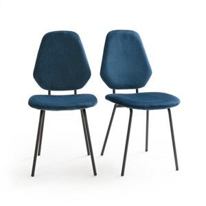 Vintage stoel met fluweel DIAMOND (set van 2)