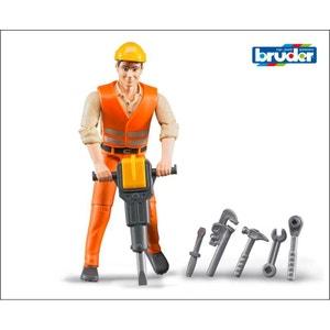 Bruder 60020 Ouvrier de chantier avec accessoires BRUDER