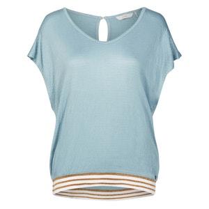 T-shirt con scollo rotondo tinta unita, maniche corte NUMPH