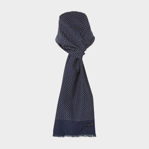 Foulard en soie à motif hachures varié - NORTON DUNE LONDON