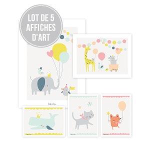 Lot affiches bébé animaux garçon LILIPINSO