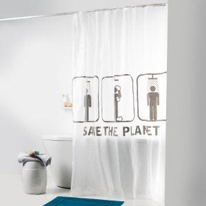 Rideau de douche Save the planet La Redoute Interieurs