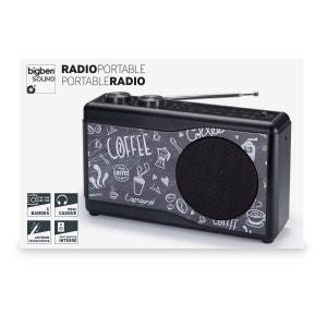 Radio portable FM AM LW SW Motif COFFEE BIG BEN