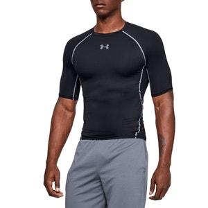 Compressie T-shirt met ronde hals en korte mouwen