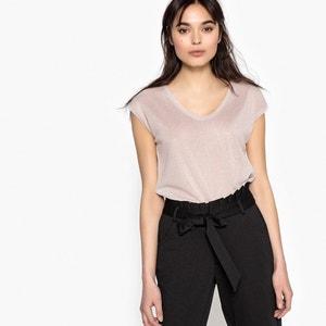 T-shirt scollo rotondo tinta unita, maniche corte ONLY