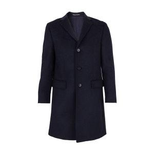 Manteau laine et Cachemire trois Quart Bleu BREGAL PELCHAT