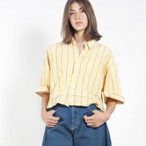 Crop chemise rayé à double bas WYLDE