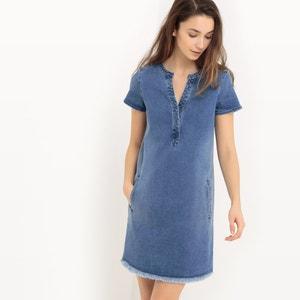 Short-Sleeved Denim Dress ESPRIT
