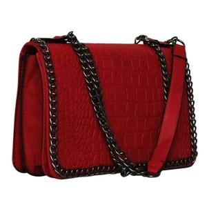 Sac bandoulière rouge avec chaine CHAPEAU-TENDANCE
