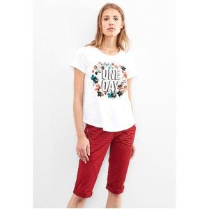 Floral-Print Crew-Neck Short-Sleeved T-Shirt S OLIVER