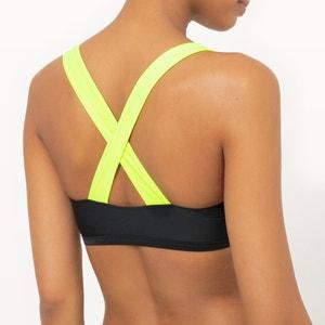 Reggiseno per bikini, brassiere, cerniera, multicolore, fluorescente. Sophie Malagola x La Redoute